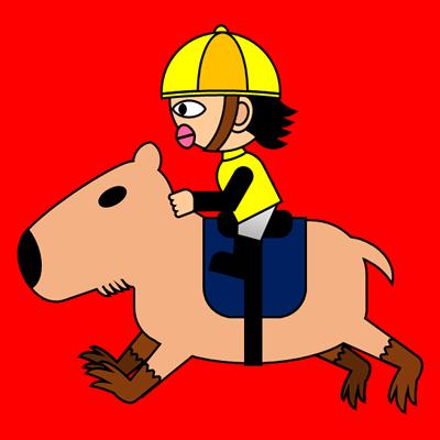 カピバラに乗る騎手のアイコン(5)画像3