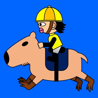カピバラに乗る騎手のアイコン(5)画像4