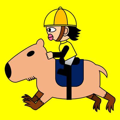 カピバラに乗る騎手のアイコン(5)画像5