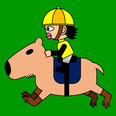 カピバラに乗る騎手のアイコン(5)画像6