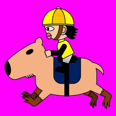 カピバラに乗る騎手のアイコン(5)画像8