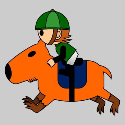 カピバラに乗る騎手のアイコン(6)画像