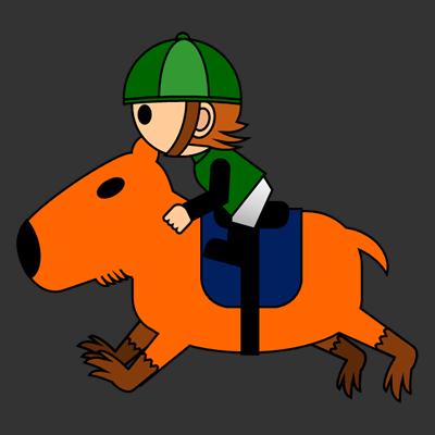 カピバラに乗る騎手のアイコン(6)画像2