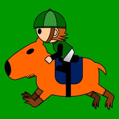 カピバラに乗る騎手のアイコン(6)画像6