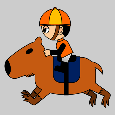 カピバラに乗る騎手のアイコン(7)画像