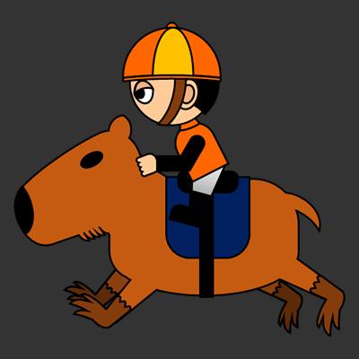 カピバラに乗る騎手のアイコン(7)画像2