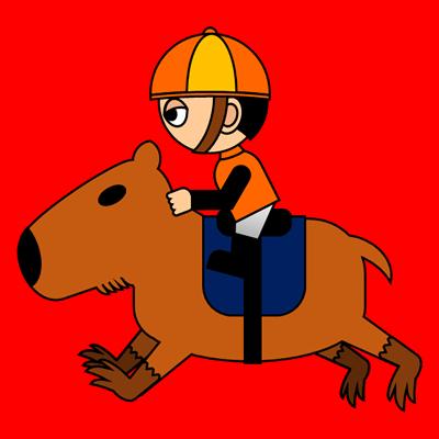 カピバラに乗る騎手のアイコン(7)画像3