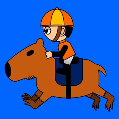 カピバラに乗る騎手のアイコン(7)画像4