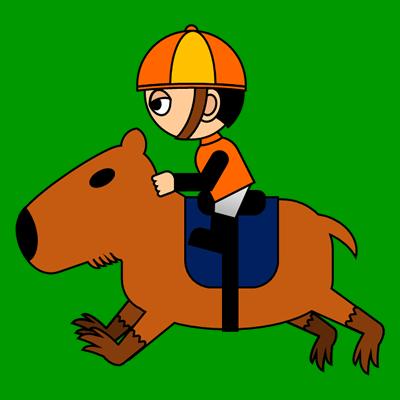 カピバラに乗る騎手のアイコン(7)画像6