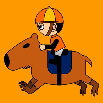 カピバラに乗る騎手のアイコン(7)画像7
