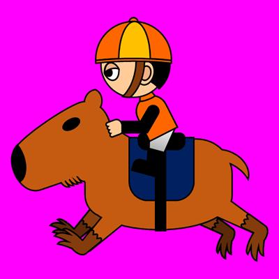 カピバラに乗る騎手のアイコン(7)画像8