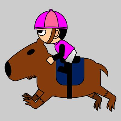 カピバラに乗る騎手のアイコン(8)画像