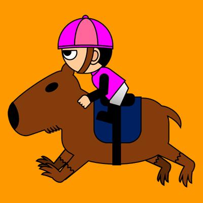 カピバラに乗る騎手のアイコン(8)画像7