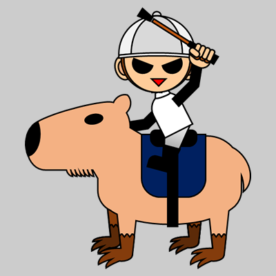 カピバラに乗る騎手のアイコン(9)画像