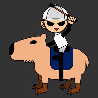 カピバラに乗る騎手のアイコン(9)画像2