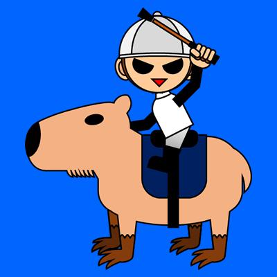 カピバラに乗る騎手のアイコン(9)画像4