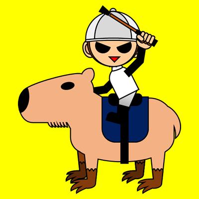 カピバラに乗る騎手のアイコン(9)画像5