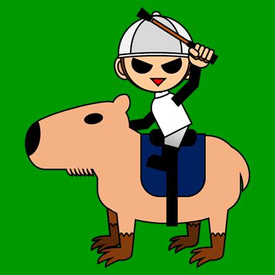 カピバラに乗る騎手のアイコン(9)画像6