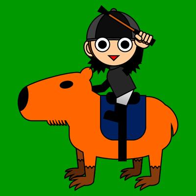 カピバラに乗る騎手のアイコン(10)画像6