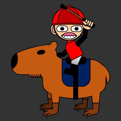 カピバラに乗る騎手のアイコン(11)画像2
