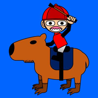 カピバラに乗る騎手のアイコン(11)画像4