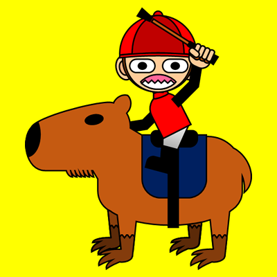 カピバラに乗る騎手のアイコン(11)画像5