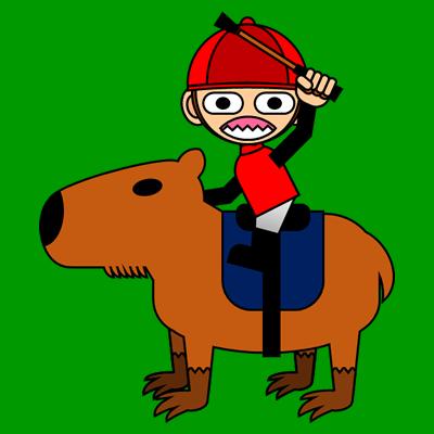 カピバラに乗る騎手のアイコン(11)画像6