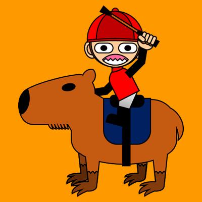 カピバラに乗る騎手のアイコン(11)画像7