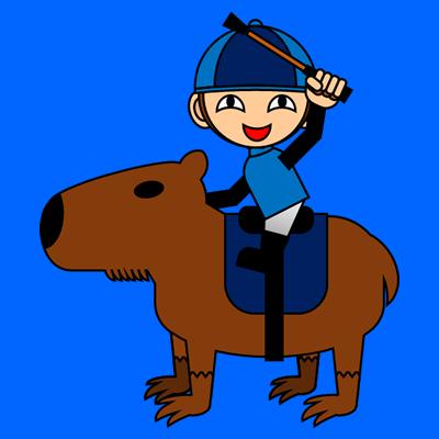 カピバラに乗る騎手のアイコン(12)画像4