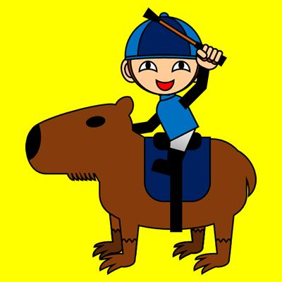 カピバラに乗る騎手のアイコン(12)画像5