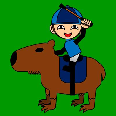 カピバラに乗る騎手のアイコン(12)画像6