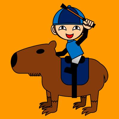 カピバラに乗る騎手のアイコン(12)画像7