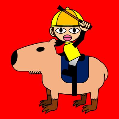 カピバラに乗る騎手のアイコン(13)画像3