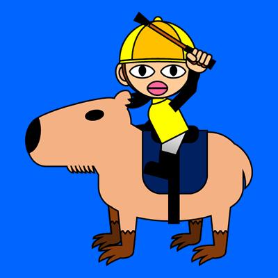 カピバラに乗る騎手のアイコン(13)画像4