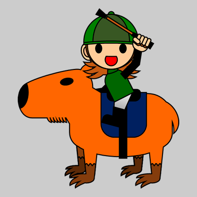 カピバラに乗る騎手のアイコン(14)画像