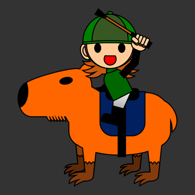 カピバラに乗る騎手のアイコン(14)画像2