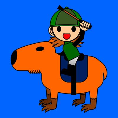 カピバラに乗る騎手のアイコン(14)画像4