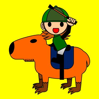 カピバラに乗る騎手のアイコン(14)画像5