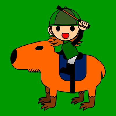 カピバラに乗る騎手のアイコン(14)画像6