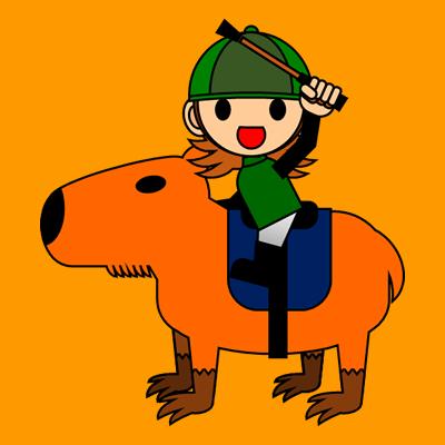 カピバラに乗る騎手のアイコン(14)画像7