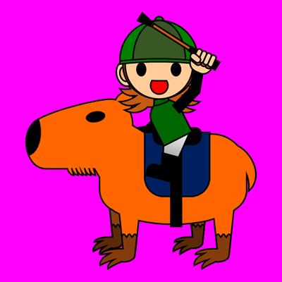 カピバラに乗る騎手のアイコン(14)画像8