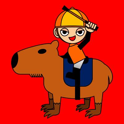 カピバラに乗る騎手のアイコン(15)画像3