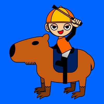 カピバラに乗る騎手のアイコン(15)画像4