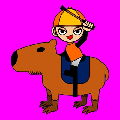 カピバラに乗る騎手のアイコン(15)画像8