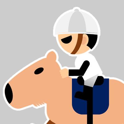 カピバラに乗る騎手のアイコン(17)画像