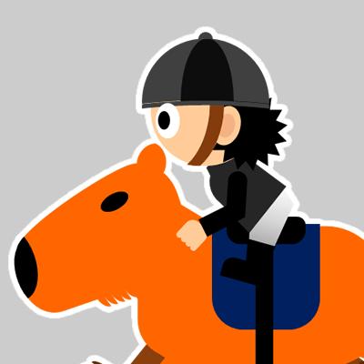 カピバラに乗る騎手のアイコン(18)画像