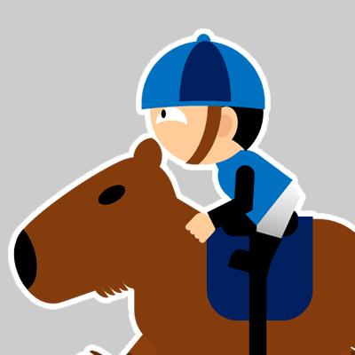 カピバラに乗る騎手のアイコン(20)画像