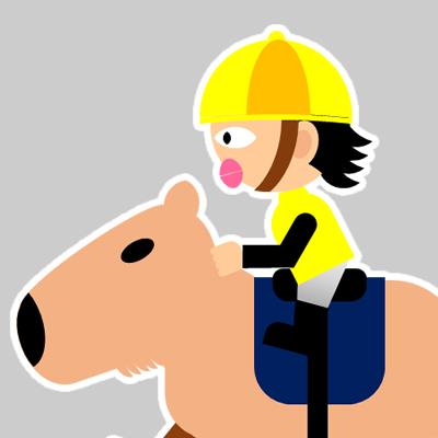 カピバラに乗る騎手のアイコン(21)画像