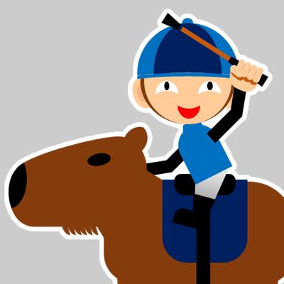 カピバラに乗る騎手のアイコン(28)画像