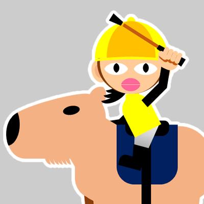 カピバラに乗る騎手のアイコン(29)画像